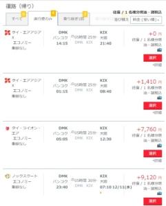 関空・バンコクの航空券は、サプライス