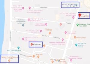 パタヤ MP 地図,パタヤ マッサージパーラー 地図